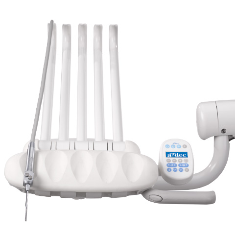 A-dec 300 dental delivery system with warm water syringe