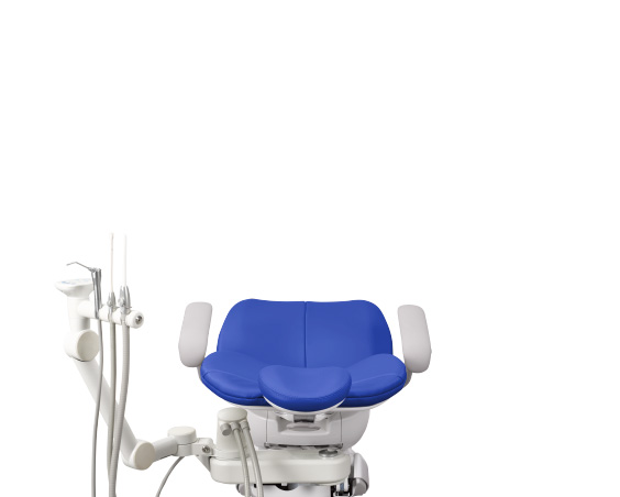 A-dec 300 dental chair with assistants instrumentation