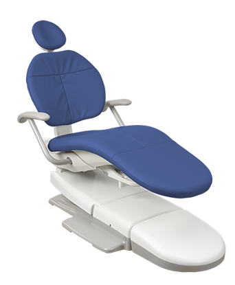 A-dec 300 dental chair with pacific upholstery