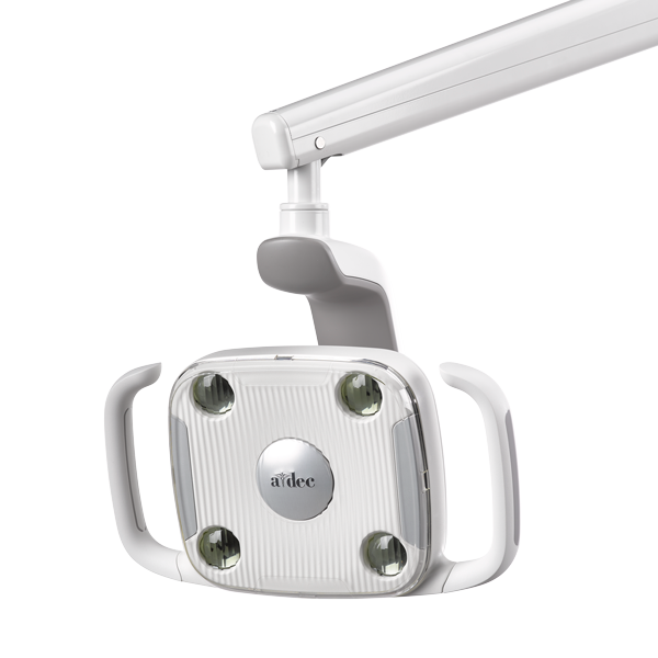 A-dec 300 LED dental light with lights off