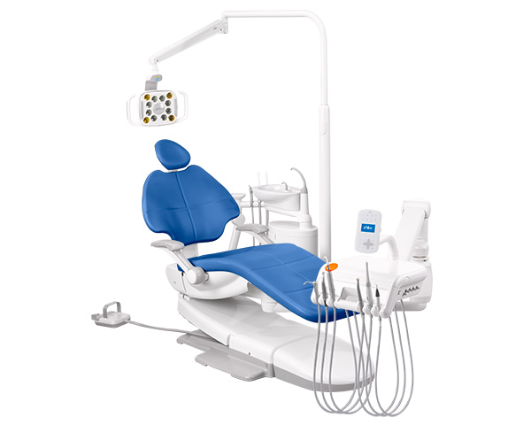 A-dec 500 dental equipment with Sky Blue formed upholstery