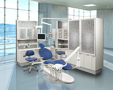 A-dec 300 Dental Operatory with A-dec Inspire Dental Cabinets thumbnail